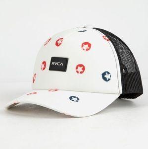 NWT RVCA Red White & Blue Talum Trucker Hat